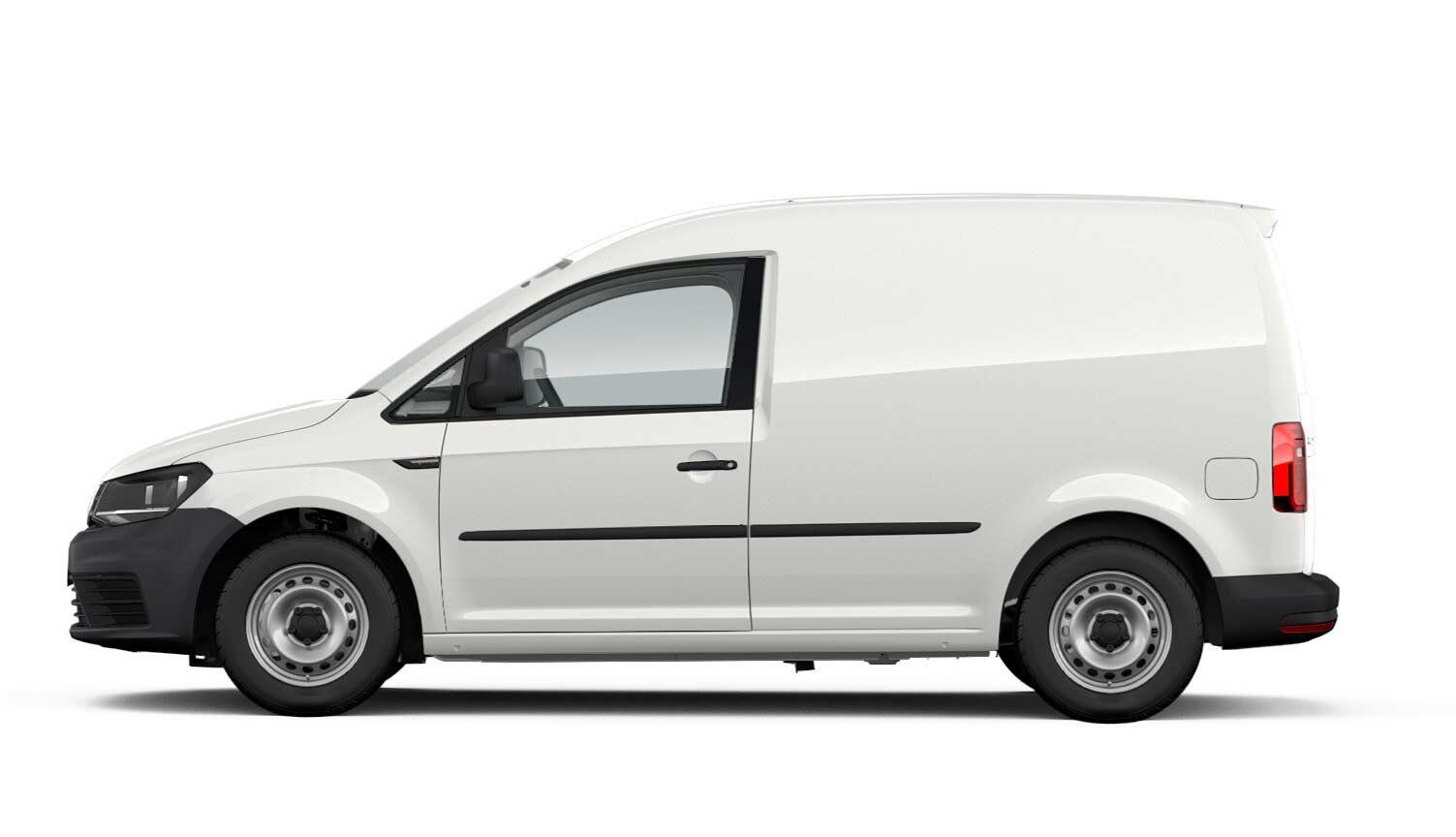"Caddy Kastenwagen ""EcoProfi"" Motor: 1,0 l TSI EU6 BlueMotion Technology 75 kW Getriebe: 5-Gang-Schaltgetriebe Radstand: 2681 mm"