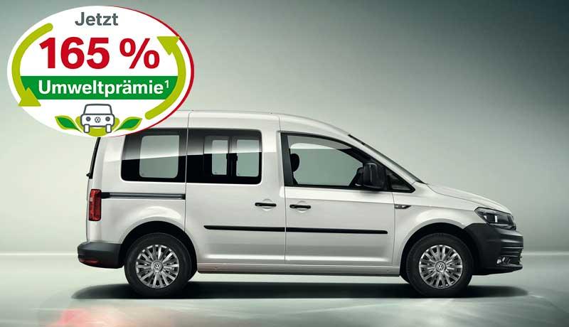 Caddy Kombi 5-Sitzer Motor: 1,0 l TSI EU6 BlueMotion Technology 75 kW Getriebe: 5-Gang-Schaltgetriebe Radstand: 2681 mm