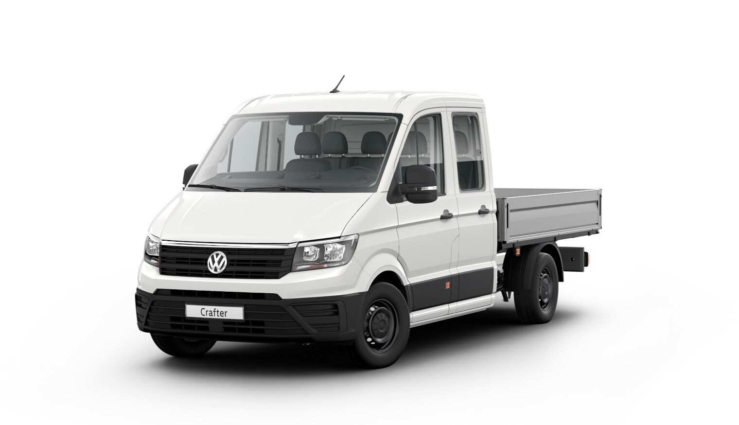 Crafter 35 Pritschenwagen Doppelkabine Motor: 2,0 l TDI EU6 SCR BlueMotion Technology 75 kW Getriebe: Frontantrieb 6-Gang-Schaltgetriebe Radstand: 3640 mm