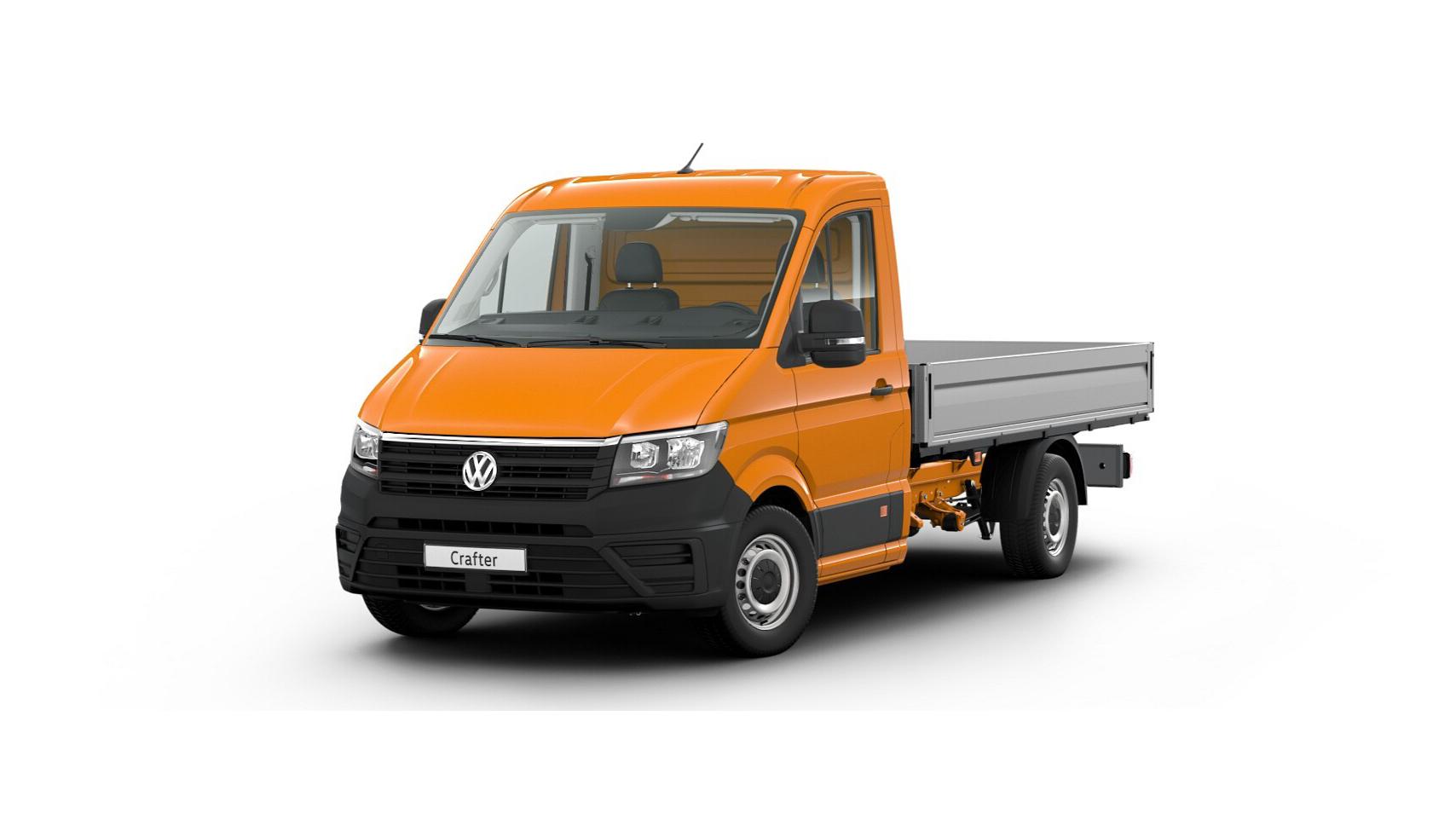 Crafter 35 Pritschenwagen Einzelkabine Motor: 2,0 l TDI EU6 SCR BlueMotion Technology 75 kW Getriebe: Frontantrieb 6-Gang-Schaltgetriebe Radstand: 3640 mm