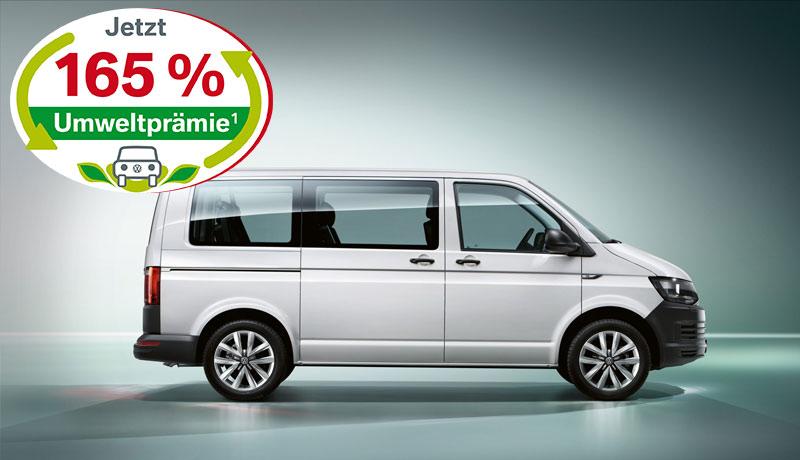 Transporter Kombi Motor: 2,0 l TDI EU6 SCR BlueMotion Technology 62 kW Getriebe: 5-Gang-Schaltgetriebe Radstand: 3000 mm