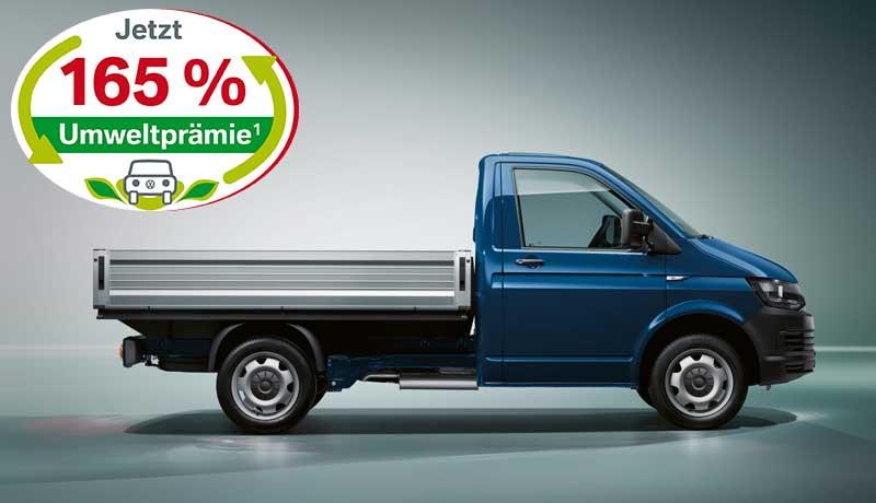 """Transporter Pritsche Einzelkabine """"EcoProfi"""" Motor: 2,0 l TDI EU6 SCR BlueMotion Technology 75 kW Getriebe: 5-Gang-Schaltgetriebe Radstand: 3000 mm"""
