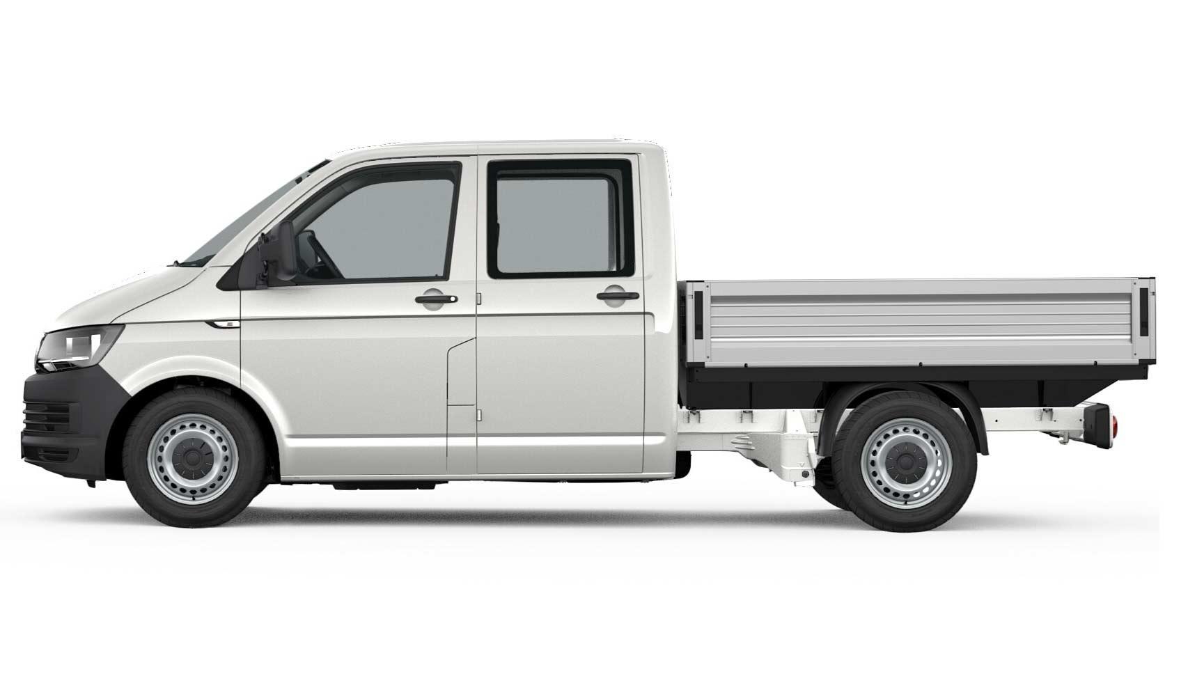 "Transporter Pritsche Doppelkabine ""EcoProfi"", 2,0 l TDI EU6 SCR BlueMotion Technology 75 kW Getriebe: 5-Gang-Schaltgetriebe Radstand: 3000 mm"