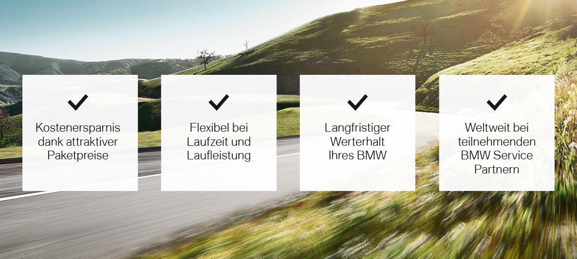 BMW Service Inclusive Leistungpaket - Ihre Vorteile auf einen Blick