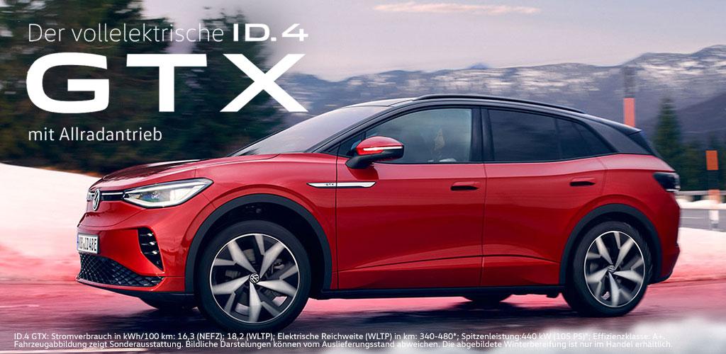 der vollelektrische ID.4 GTX mit Allradantrieb von Volkswagen - Ingolstadt