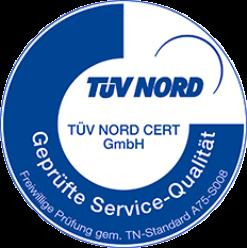 Siegel TÜV-Nord  Zertifikat (Note 1,7) für Schadensservice