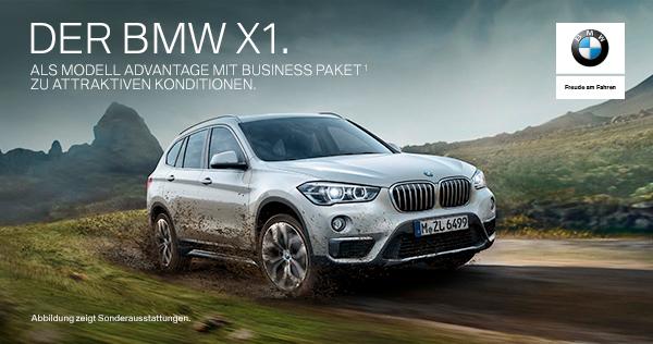 DER BMW X1. ALS MODELL ADVANTAGE MIT BUSINESS PAKET*