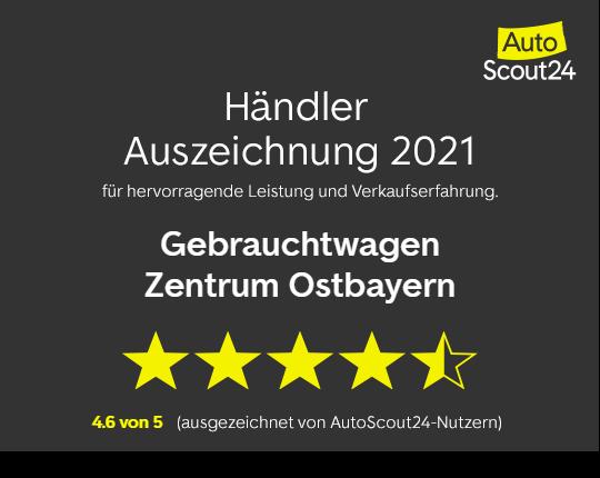 Publikumspreis von AutoScout24 für das Gebrauchtwagen Zentrum Ostbayern.