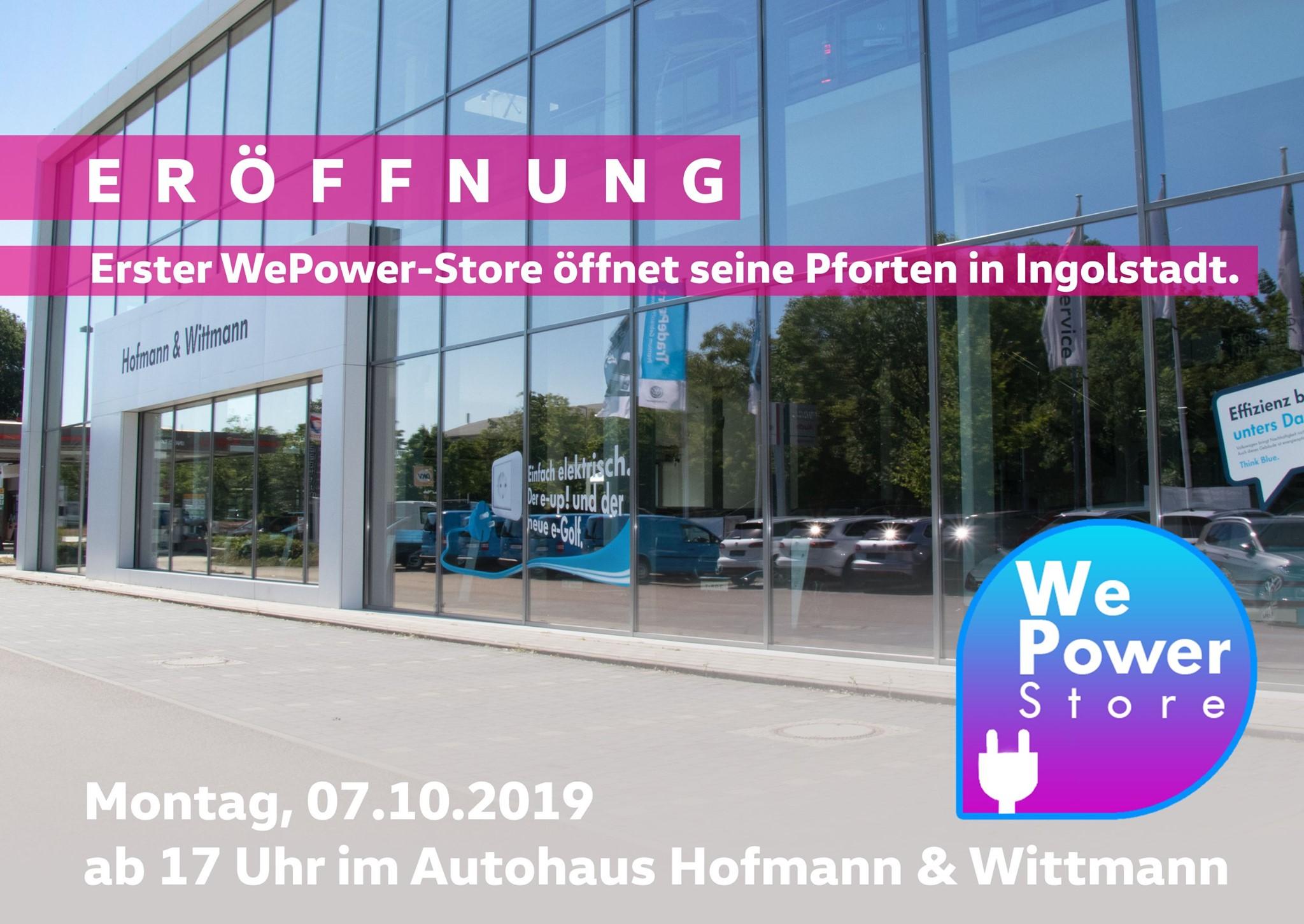 Erster WePower-Store öffnet seine Pforten in Ingolstadt.
