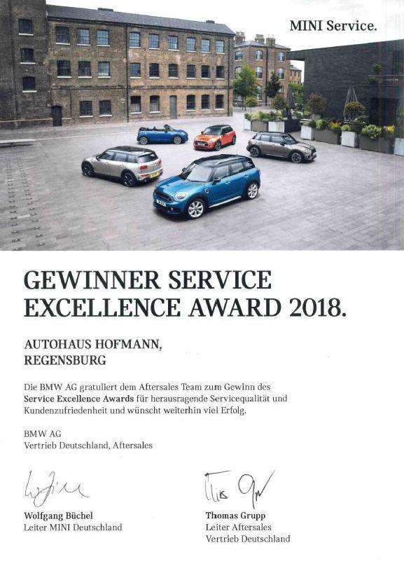 Gewinner Service Excellence Award 2018